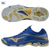 美津濃 MIZUNO 男排球鞋 WAVE LIGHTNING Z4 (藍) 高階 輕量&避震  V1GA180051【 胖媛的店 】