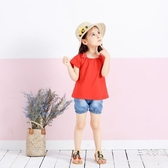 短袖女童夏裝露肩1一歲3童裝兒童短袖t恤兒童夏小童4-5女寶寶夏季裝上衣