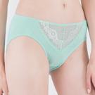 思薇爾-花芷緹舞系列M-XXL蕾絲中腰三角內褲(寧靜藍)