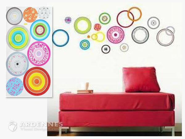 【ARDENNES】創意組合DIY壁貼/牆貼/兒童教室佈置 彩色圓圈