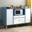 餐邊櫃現代簡約茶水櫃歐式多功能碗櫃實木腿簡易廚房茶廚儲物櫃