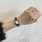 ins手錶女chic簡約韓版復古文藝vintage學院風小錶盤防水皮帶女錶   薔薇時尚
