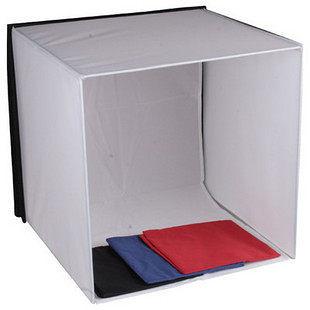 可折疊 50公分 方型攝影棚 柔光攝影棚 50*50 附4色背景布 【AYZBAB】