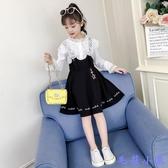 女童秋裝連身裙2020年新款可愛洋氣公主裙子兒童女孩背帶裙子套裝 【毛菇小象】