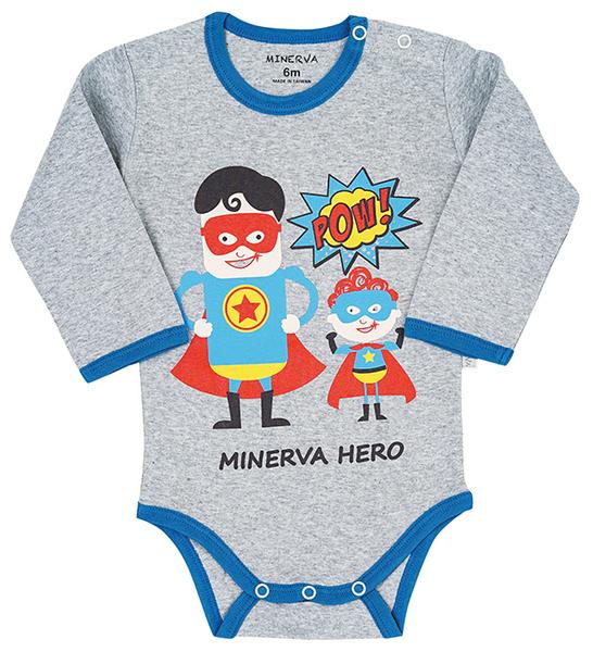 Minerva米諾娃 | 【超人系列】長袖包屁衣-超人印花