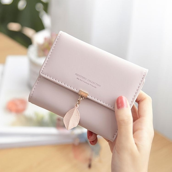 普瑞蒂小清新女士錢包女短夾學生可愛韓版三折疊ins潮零錢包錢夾