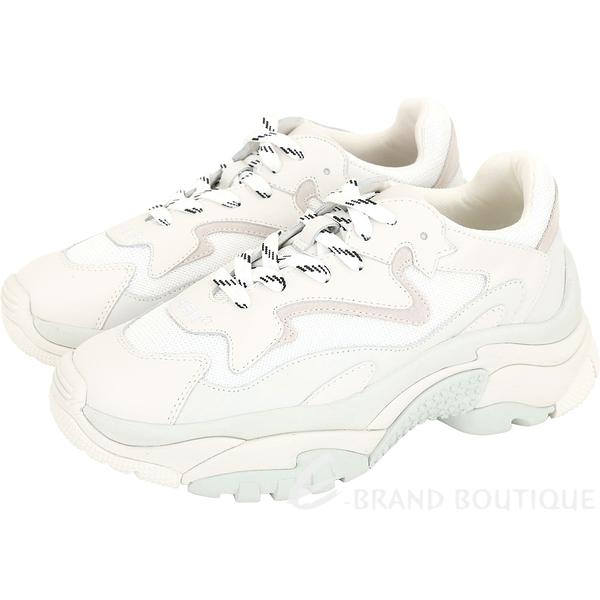 ASH Addict 菱形網編織拼接牛皮繫帶老爹鞋(白色) 1840304-03