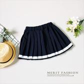 百搭基本款學院風百褶裙 褲裙 內有安全褲 日系 可愛 甜美 女童 褲裙 姊妹裝 哎北比童裝