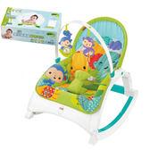 【奇買親子購物網】費雪牌 Fishe 可攜式兩用震動安撫躺椅+Nac Nac 乾式嬰兒超柔細紗布毛巾80抽*1盒