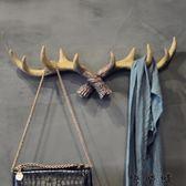 美式復古鹿角裝飾壁掛衣帽架創