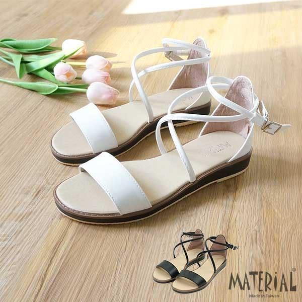 涼鞋 橫帶細帶繞踝涼鞋 MA女鞋 T7071