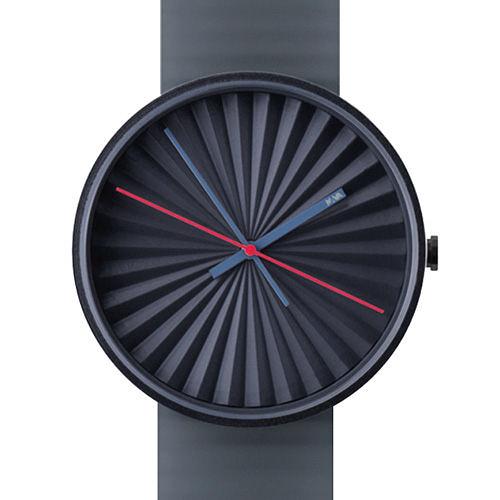 NAVA DESIGN Plicate watch 摺扇美學時尚腕錶-深藍