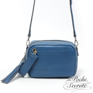 La Poche Secrete側背包 簡約真皮流蘇2WAYS相機包-皇家藍 YLT-9126