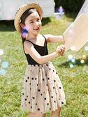 女童連身裙 女童夏裝新款洋氣兒童連身裙夏季公主裙中大童小女孩裙子短袖 曼慕衣櫃