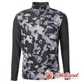 【wildland 荒野】男 彈性抗UV迷彩長袖功能衣『深灰』0A61632 輕薄 | 抗紫外線 | 吸濕 | 快乾