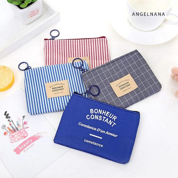零錢包-韓版帆布簡約小零錢包 AngelNaNa SKA0007