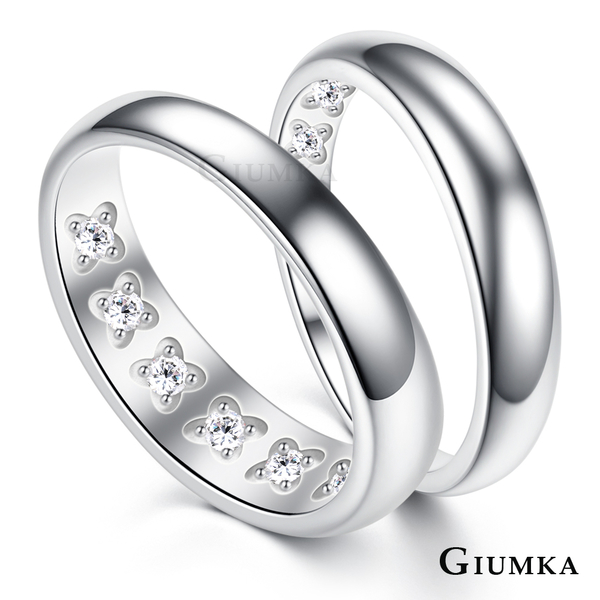 GIUMKA純銀戒指情侶刻字紀念通體925銀尾戒情人節送禮品牌推薦長久珍愛單個價格MRS06012