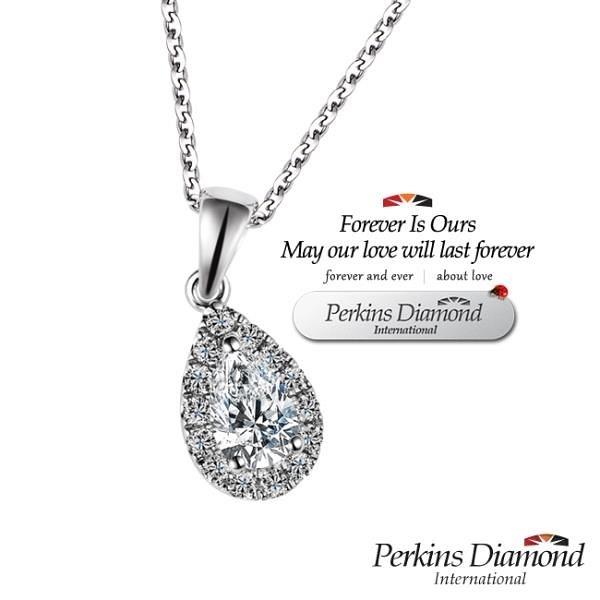 【南紡購物中心】GIA PERKINS 伯金仕 angel s tear系列 鑽石項鍊