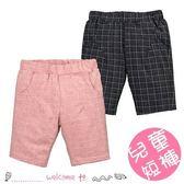 男童夏季鬆緊腰格紋短褲 五分褲
