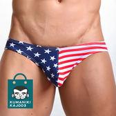 【熊老大】-5_性感低腰美國國旗貼身棉質三角褲男內褲_國旗【KAJ003】