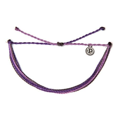 Pura Vida 知名美國衝浪品牌 Grapevine 紫色系可調式防水衝浪手鍊