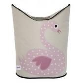 加拿大3 Sprouts 粉紅天鵝洗衣籃童趣的動物