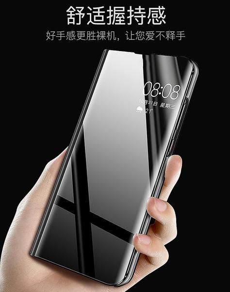 Sony Xperia 1 II 6.5吋 新款鏡面皮套 免翻蓋手機套 金屬色保護殼 側翻手機殼 簡約電鍍保護套 PC硬殼