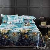 涼席 冰絲涼席床單款三件套貴族時尚印花套件
