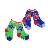 【愛的世界】機器人止滑透氣半統毛巾襪-藍色+綠色/9~21CM-台灣製- ★童鞋童襪