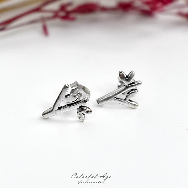 純銀耳環 唯美大樹造型銀飾NPD216