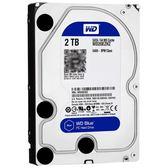 硬碟(裸碟)WD/西部數據 WD20EZRZ 2T台式機電腦機械硬碟 西數2TB 藍盤64Migo