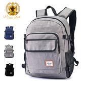 簡約休閒防水多功能口袋後背包包筆電包 電腦包 NEW STAR BK285