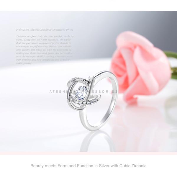 925純銀戒指 ATeenPOP 流轉年華 跳舞石戒指 女戒指 防過敏戒指 母親節禮物