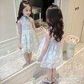 女童洋裝 童裝女童連身裙韓版洋氣兒童公主裙女孩旗袍裙子女夏 傾城小鋪