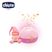chicco-舒眠星星投射夜燈-粉紅