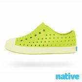 native JEFFERSON GLOW JUNIOR 奶油頭鞋-夏翠絲夜光黃綠(大童)
