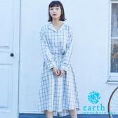 ❖ Hot item ❖ 【SET ITEM】格紋棉質襯衫+蝴蝶綁帶中長裙 - earth music&ecology