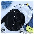 魔西童裝新款兒童洋氣百搭秋款純棉襯衫2020男童韓版長袖上衣襯衣 小艾新品