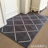 新款進門門墊入戶門腳墊門廳客廳臥室地毯北歐簡約地墊防滑『CR水晶鞋坊』igo