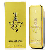 Paco Rabanne One Million 百萬男性淡香水5ml(法國貨)【QEM-girl】