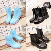 春夏季女士低幫雨鞋女短筒水鞋成人雨靴時尚膠鞋防滑套鞋韓版潮『櫻花小屋』
