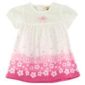 【愛的世界】純棉圓領四月雪拉鍊短袖洋裝/1~2歲-台灣製- ★春夏洋裝