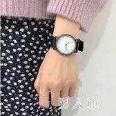 學院風復古情侶手表學生韓版簡約潮流休閒大氣黑白 df542『男人範』