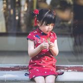 童裝漢服 女童旗袍2018新款夏季寶寶唐裝兒童旗袍洋裝漢服中國風童裝春秋 珍妮寶貝
