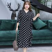 ★韓美姬★中大尺碼~簡約束口袖長袖連衣裙(XL~4XL)