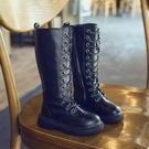 女童靴 洋氣加絨過膝長靴高筒長筒靴兒童女童靴子2019年新款秋冬季馬丁靴【新年禮物】