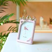 北歐現代簡約相框 擺臺創意掛墻5寸照片框兒童畫框裝飾品 QX10574 『愛尚生活館』