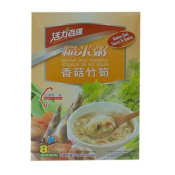 【活力百匯】香菇竹筍糙米粥 x1盒(40g*6包/盒) ~即沖即食