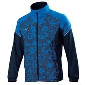 MIZUNO 男裝 外套 立領 休閒 套裝 防潑水 兩側口袋拉鍊 網布內裡 深藍【運動世界】32TC058422