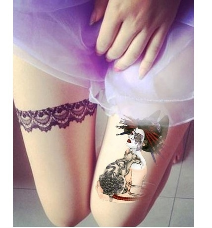 薇嘉雅    環臂圖案紋身貼紙 AX181